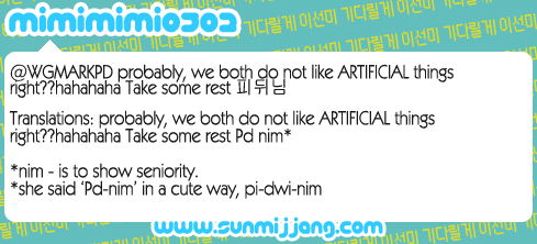 @WGMARKPD probably, we both do not like ARTIFICIAL things right??hahahaha Take some rest 피뒤님